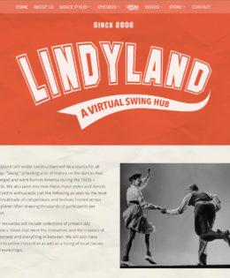 Lindyland Website Design